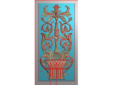 MXYH073-JDP格式欧式门芯洋花精雕图门芯贴花精雕图欧式洋花雕刻图(含灰度图)