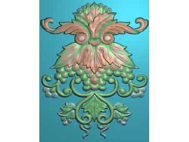 MXYH078-JDP格式欧式门芯洋花精雕图门芯贴花精雕图欧式洋花雕刻图(含灰度图)