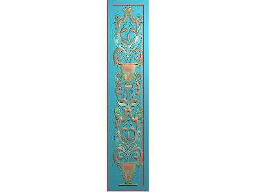 MXYH086-JDP格式欧式门芯洋花精雕图门芯贴花精雕图欧式洋花雕刻图(含灰度图)