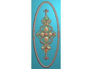 MXYH091-JDP格式椭圆欧式门芯洋花精雕图门芯贴花精雕图欧式洋花雕刻图