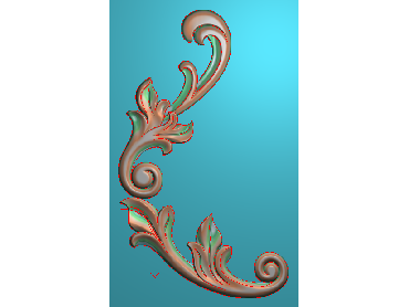 OUJH007-JDP格式欧式洋花电脑精雕图角花精雕图边角贴花雕刻图(含灰度图)