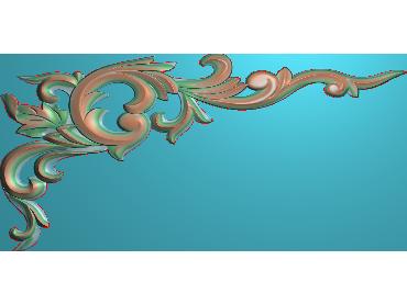 OUJH024-JDP格式欧式洋花电脑精雕图角花精雕图边角贴花雕刻图(含灰度图)