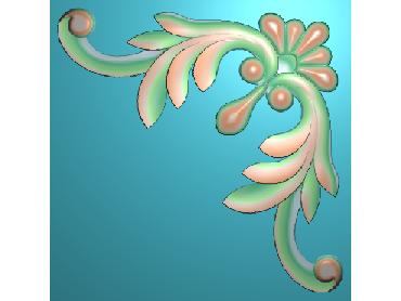 OUJH027-JDP格式欧式洋花电脑精雕图角花精雕图边角贴花雕刻图(含灰度图)