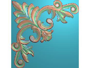 OUJH030-JDP格式欧式洋花电脑精雕图角花精雕图边角贴花雕刻图(含灰度图)