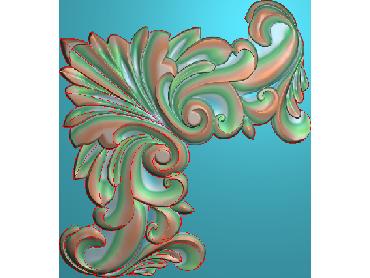 OUJH031-JDP格式欧式洋花电脑精雕图角花精雕图边角贴花雕刻图(含灰度图)
