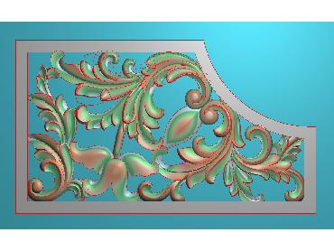 OUJH038-JDP格式欧式洋花电脑精雕图角花精雕图边角贴花雕刻图(含灰度图)