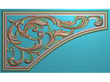 OUJH042-JDP格式欧式洋花电脑精雕图角花精雕图边角贴花雕刻图(含灰度图)