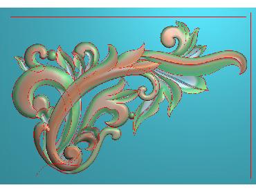 OUJH049-JDP格式欧式洋花电脑精雕图角花精雕图边角贴花雕刻图(含灰度图)