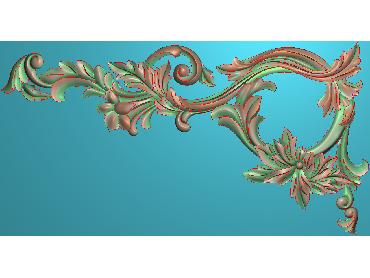 OUJH086-JDP格式欧式洋花电脑精雕图角花精雕图边角贴花雕刻图(含灰度图)
