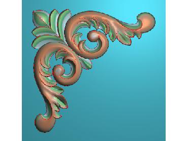 OUJH115-JDP格式欧式洋花电脑精雕图角花精雕图边角贴花雕刻图(含灰度图)