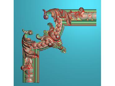 OUJH131-JDP格式欧式洋花电脑精雕图角花精雕图边角贴花雕刻图(含灰度图)