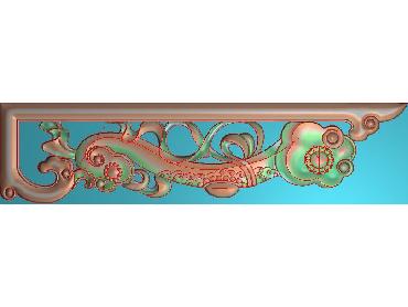 OUJH138-JDP格式欧式洋花电脑精雕图角花精雕图边角贴花雕刻图(含灰度图)