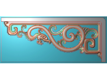 OUJH181-JDP格式欧式洋花电脑精雕图角花精雕图边角贴花雕