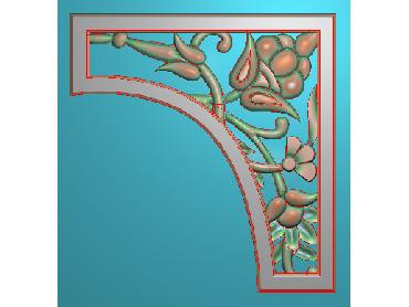 OUJH184-JDP格式欧式洋花电脑精雕图角花精雕图边角贴花雕