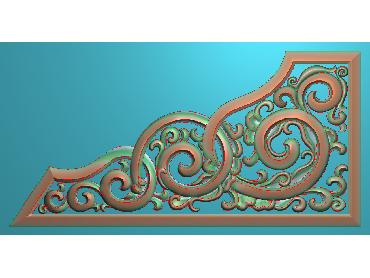 OUJH185-JDP格式欧式洋花电脑精雕图角花精雕图边角贴花雕刻图(含灰度图)