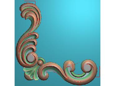 OUJH188-JDP格式欧式洋花电脑精雕图角花精雕图边角贴花雕刻图(含灰度图)