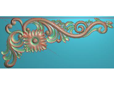 OUJH219-JDP格式欧式洋花电脑精雕图角花精雕图边角贴花雕刻图(含灰度图)