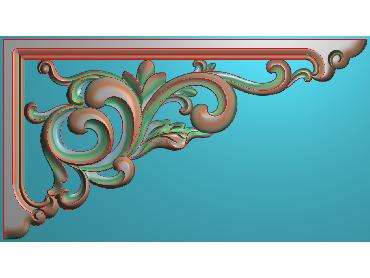 OUJH232-JDP格式欧式洋花电脑精雕图角花精雕图边角贴花雕刻图(含灰度图)