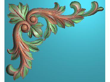 OUJH238-JDP格式欧式洋花电脑精雕图角花精雕图边角贴花雕刻图(含灰度图)