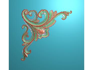 OUJH245-JDP格式欧式洋花电脑精雕图角花精雕图边角贴花雕刻图(含灰度图)