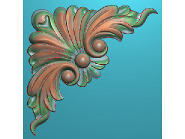 OUJH265-JDP格式欧式洋花电脑精雕图角花精雕图边角贴花雕刻图(含灰度图)