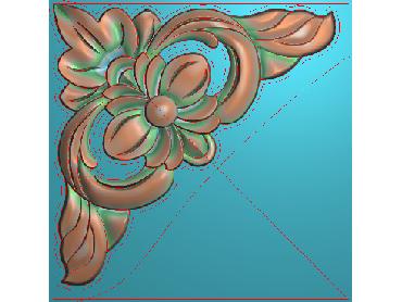 OUJH266-JDP格式欧式洋花电脑精雕图角花精雕图边角贴花雕刻图(含灰度图)