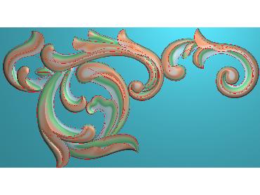 OUJH306-JDP格式欧式洋花电脑精雕图角花精雕图边角贴花雕刻图(含灰度图)
