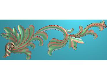 OUJH317-JDP格式欧式洋花电脑精雕图角花精雕图边角贴花雕刻图(含灰度图)