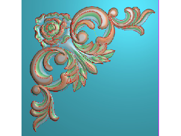 OUJH328-JDP格式欧式洋花电脑精雕图角花精雕图边角贴花雕刻图(含灰度图)