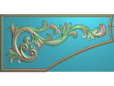 OUJH352-JDP格式欧式洋花电脑精雕图角花精雕图边角贴花雕刻图