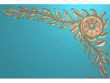 OUJH366-JDP格式欧式洋花电脑精雕图角花精雕图边角贴花雕刻图