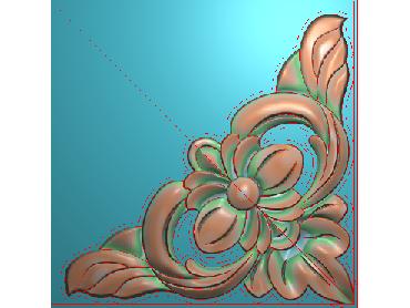 OUJH367-JDP格式欧式洋花电脑精雕图角花精雕图边角贴花雕刻图