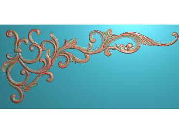 OUJH372-JDP格式欧式洋花电脑精雕图角花精雕图边角贴花雕刻图
