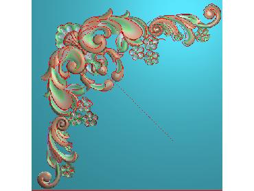 OUJH377-JDP格式欧式洋花电脑精雕图角花精雕图边角贴花雕刻图