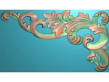 OUJH398-JDP格式欧式洋花电脑精雕图角花精雕图边角贴花雕刻图