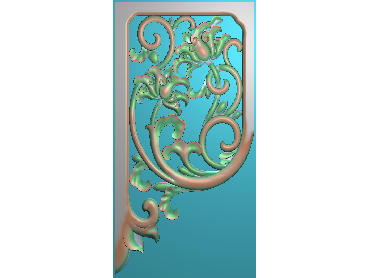 OUJH405-JDP格式欧式洋花电脑精雕图角花精雕图边角贴花雕刻图