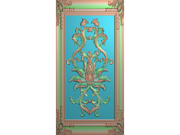 QTYH003-JDP格式欧式洋花精雕图欧式贴花雕刻图中式洋花电脑精雕图(含灰度图)