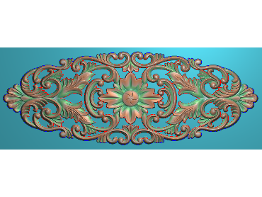QTYH012-JDP格式欧式洋花精雕图欧式贴花雕刻图中式洋花电脑精雕图(含灰度图)