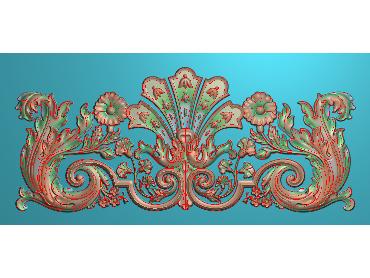 QTYH013-JDP格式欧式洋花精雕图欧式贴花雕刻图中式洋花电脑精雕图(含灰度图)
