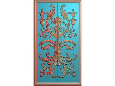 QTYH016-JDP格式欧式洋花精雕图欧式贴花雕刻图中式洋花电脑精雕图(含灰度图)