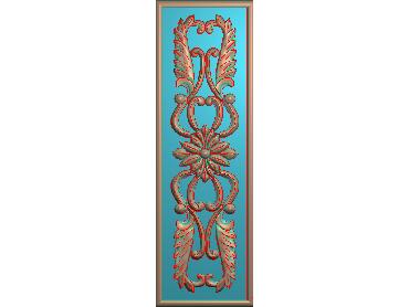 QTYH017-JDP格式欧式洋花精雕图欧式贴花雕刻图中式洋花电脑精雕图(含灰度图)