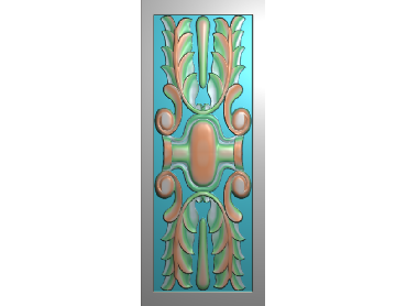 QTYH024-JDP格式欧式洋花精雕图欧式贴花雕刻图中式洋花电脑精雕图(含灰度图)
