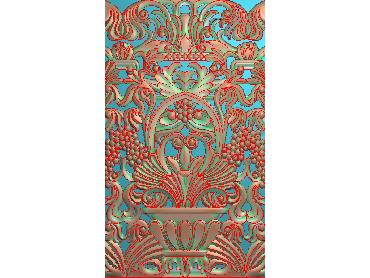 QTYH033-JDP格式欧式洋花精雕图欧式贴花雕刻图中式洋花电脑精雕图(含灰度图)