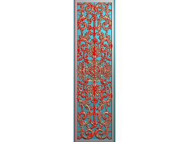 QTYH045-JDP格式欧式洋花精雕图欧式贴花雕刻图中式洋花电脑精雕图(含灰度图)