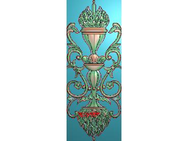 QTYH063-JDP格式欧式洋花精雕图欧式贴花雕刻图中式洋花电脑精雕图(含灰度图)