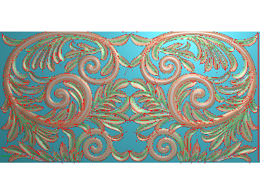 QTYH070-JDP格式欧式洋花精雕图欧式贴花雕刻图中式洋花电脑精雕图(含灰度图)