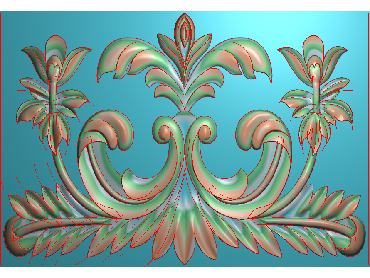 QTYH074-JDP格式欧式洋花精雕图欧式贴花雕刻图中式洋花电脑精雕图(含灰度图)