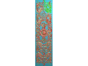 QTYH091-JDP格式欧式洋花精雕图欧式贴花雕刻图中式洋花电脑精雕图(含灰度图)