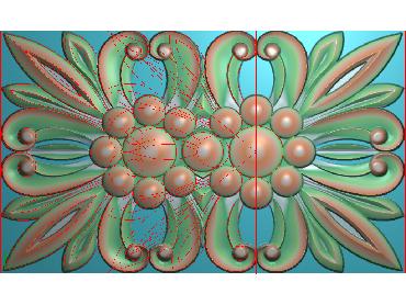 QTYH094-JDP格式欧式洋花精雕图欧式贴花雕刻图中式洋花电脑精雕图(含灰度图)