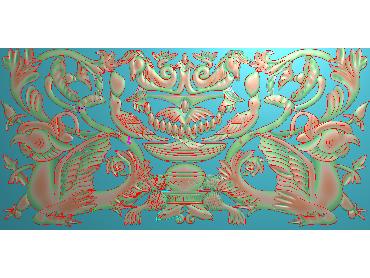 QTYH103-JDP格式欧式洋花精雕图欧式贴花雕刻图中式洋花电脑精雕图(含灰度图)